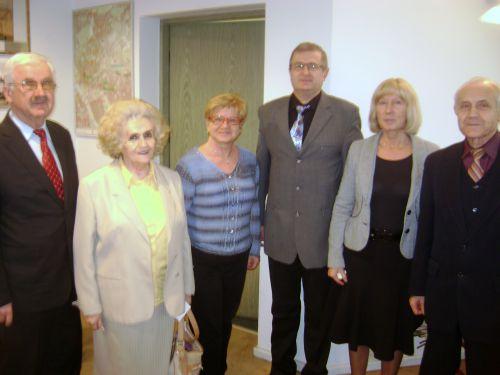 Delegacja Zwiazkowców i Przyjaciół Bródna uBurmistrza na imieninach